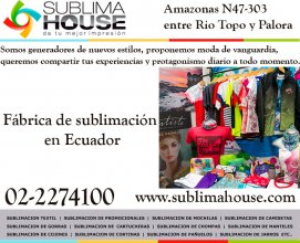 Fabrica para subliminados en Ecuador
