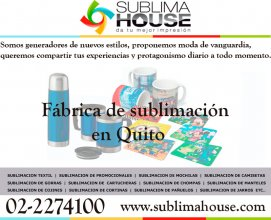 Fabrica para subliminados en la ciudad de Quito